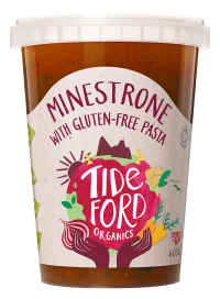 Minestrone soup with gluten-free pasta