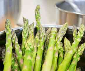 Asparagus with Fresh White Miso+Mint Dressing