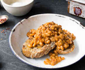 Miso Baked Beans with Chilli + Lime