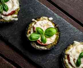 Portobello Pesto Pizza Burgers