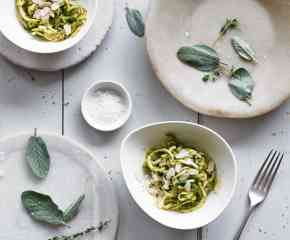 Courgetti with Basil Pesto